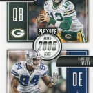 2016 Playoff Football Card Class Reunion #CR-RW Aaron Rodgers / DeMarcus Ware