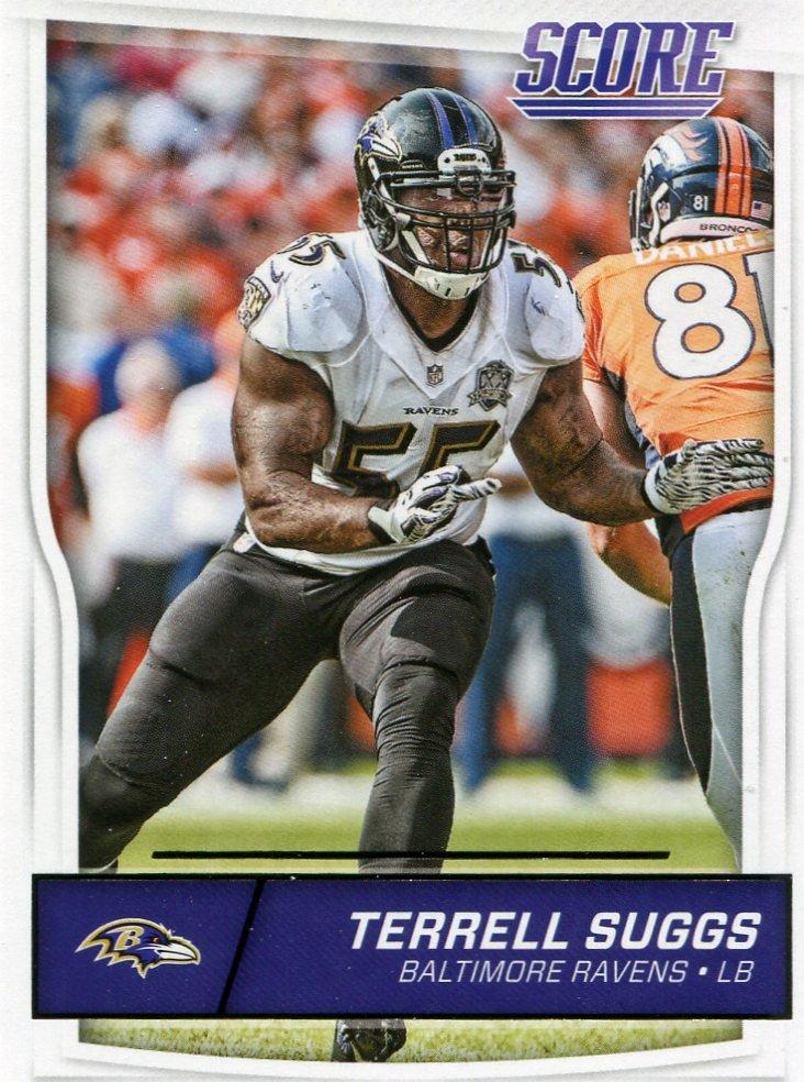 2016 Score Football Card #30 Terrell Suggs