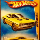 2009 Hot Wheels #13 71 Dodge Demon YELLOW