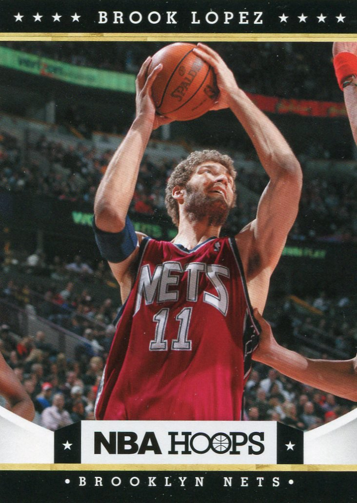 2012 Hoops Basketball Card #9 Brook Lopez