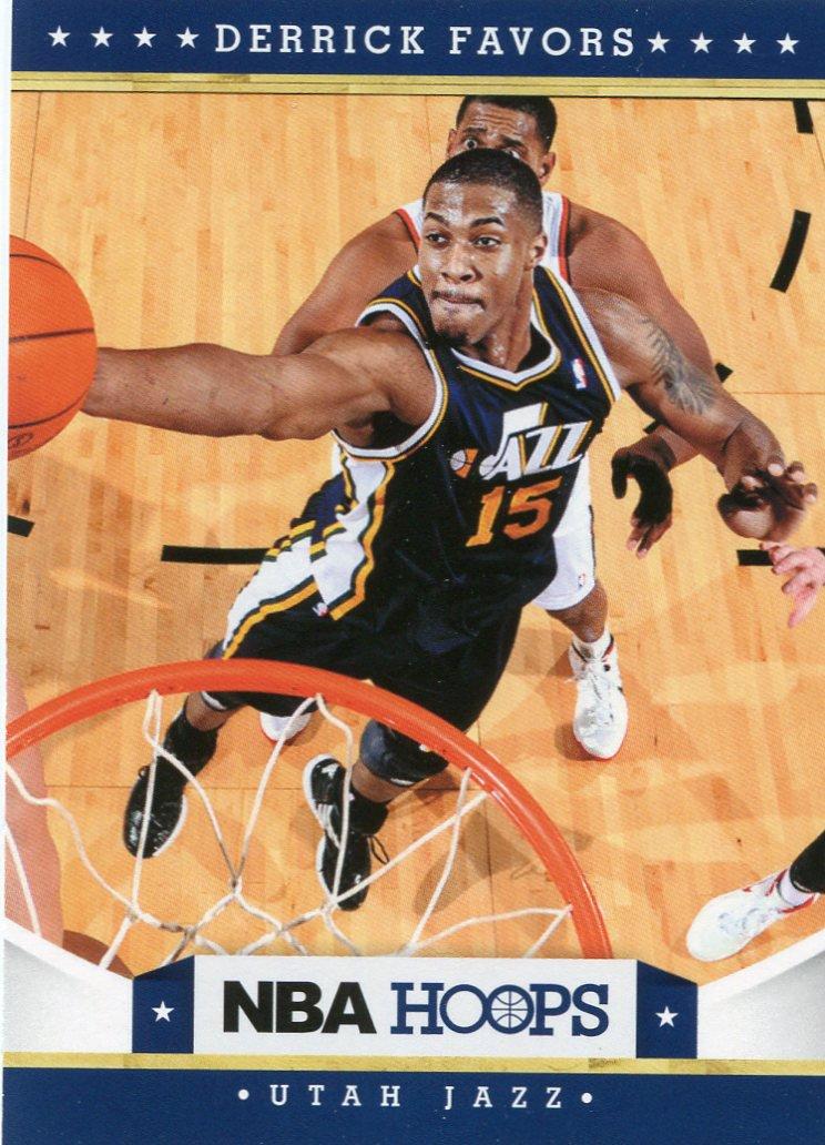 2012 Hoops Basketball Card #145 Derrick Favors