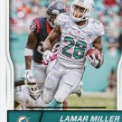 2016 Score Football Card #170 Lamar Miller