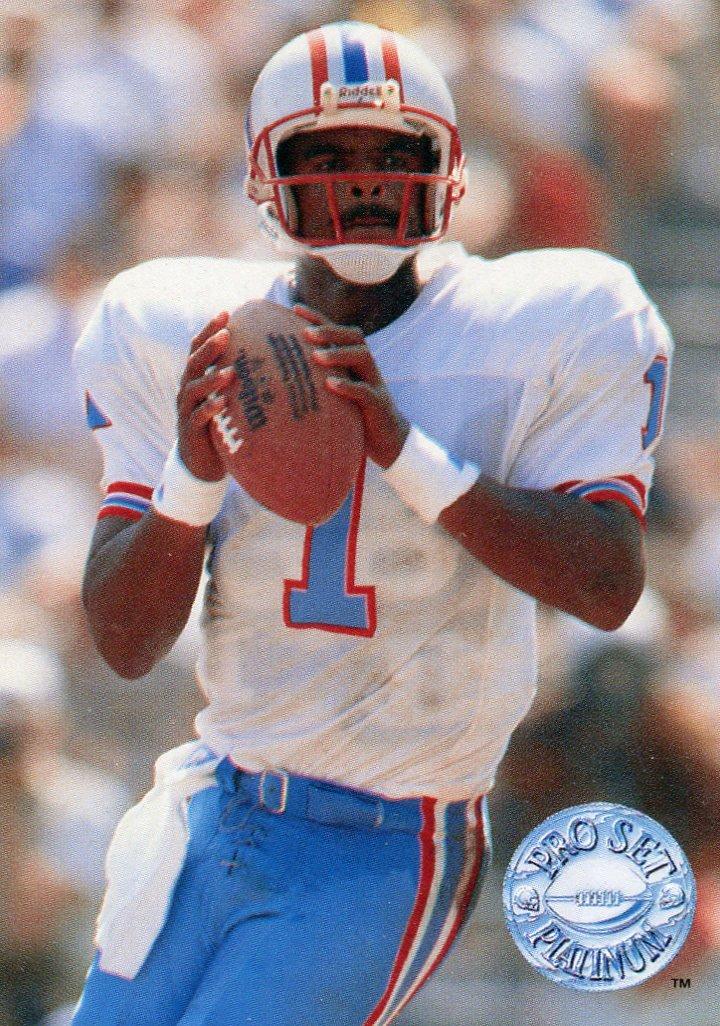 1991 Pro Set Platinum Football Card #40 Warren Moon