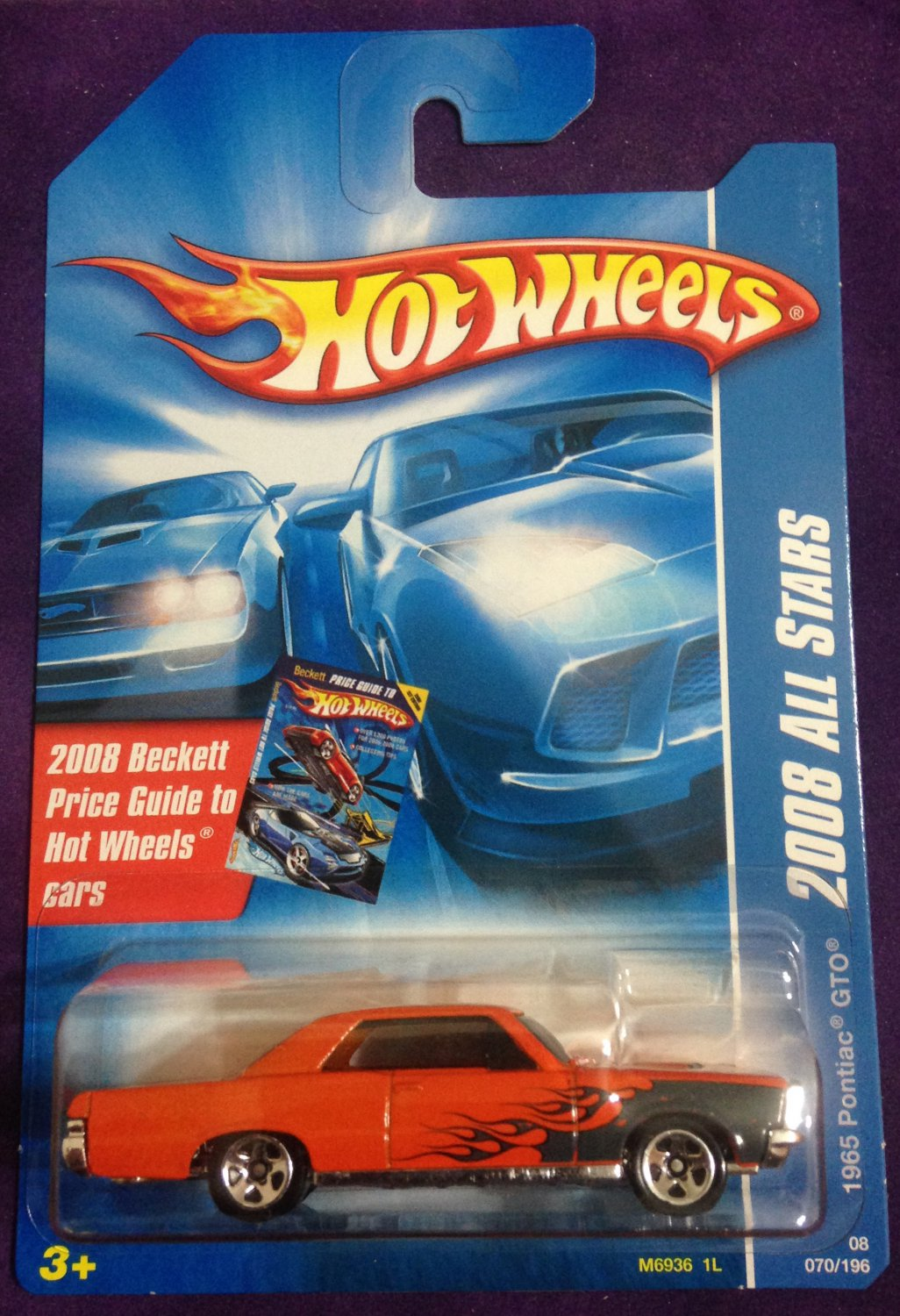 2008 Hot Wheels Beckett Card #70 1965 Pontiac GTO