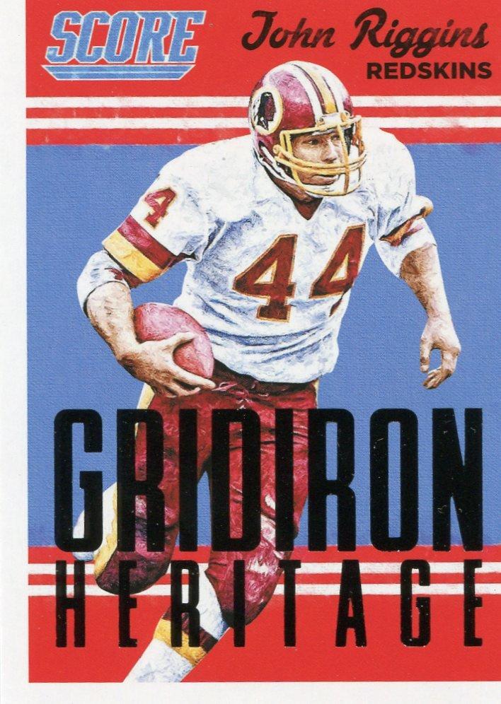 2015 Score Football Card Gridiron Heritage #4 John Riggins