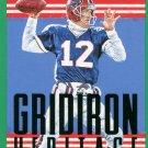 2015 Score Football Card Gridiron Heritage Green #18 Jim Kelly