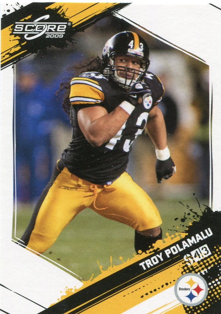 2009 Score Football Card #232 Troy Polamalu