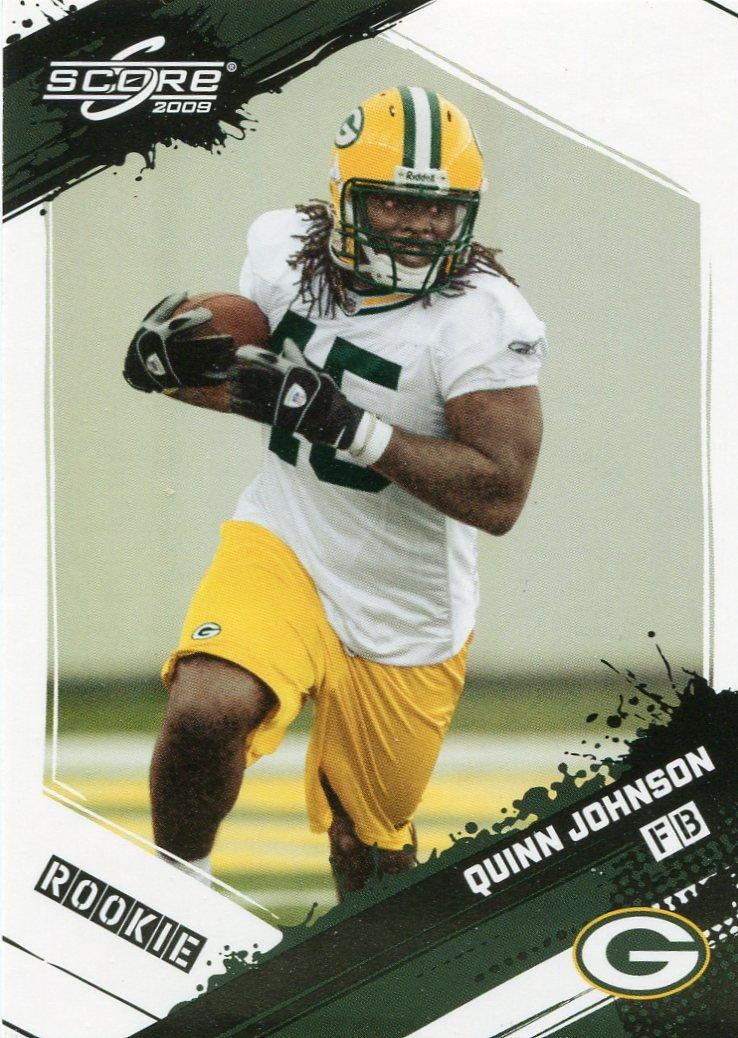 2009 Score Football Card #385 Quinn Johnson