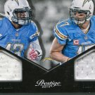 2014 Prestige Football Card Materials #2 Keenan Allen / Phillip Rivers