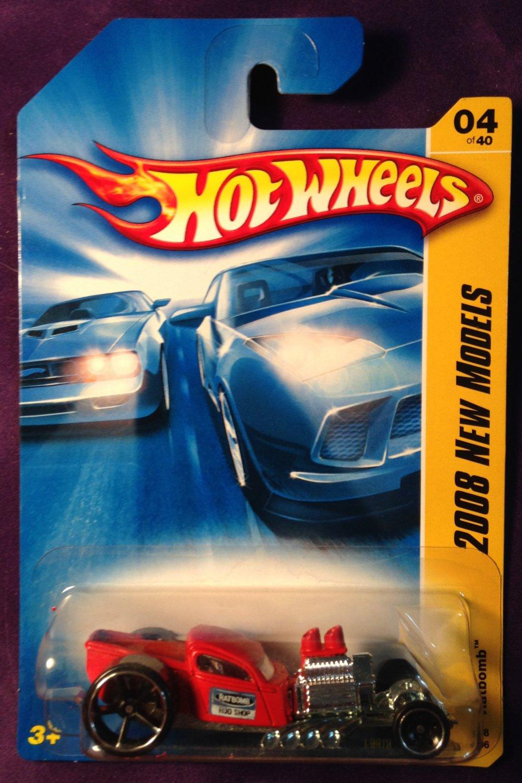 2008 Hot Wheels #4 Ratbomb RED