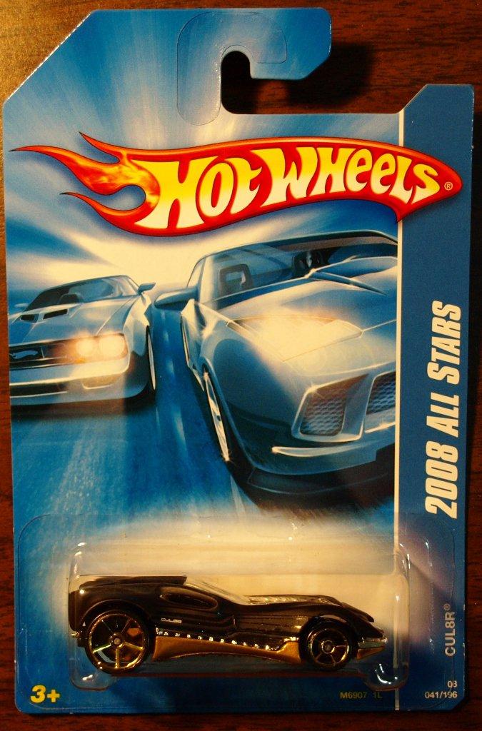2008 Hot Wheels #41 CUL8R BLACK