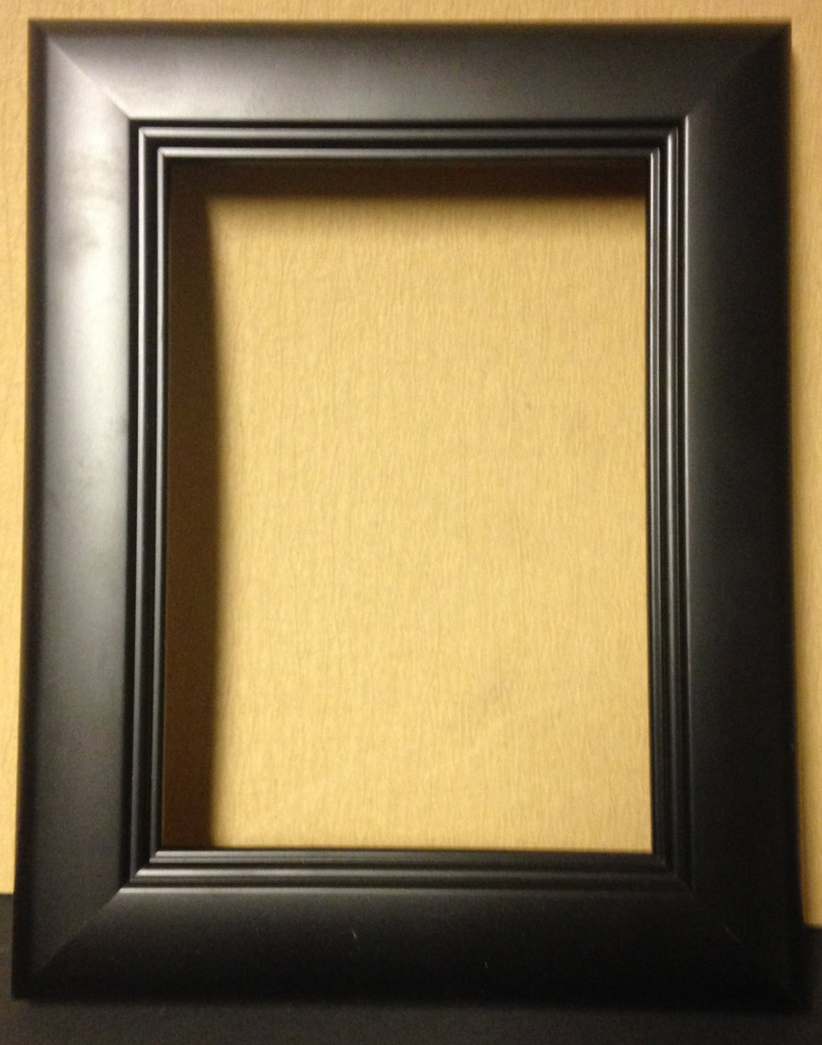 "4 x 6 1-1/2"" Black Square Step Picture Frame"