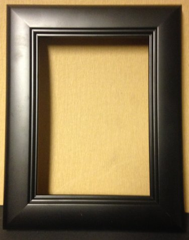 """8-1/2 x 11 1-1/2"""" Black Square Step Picture Frame"""