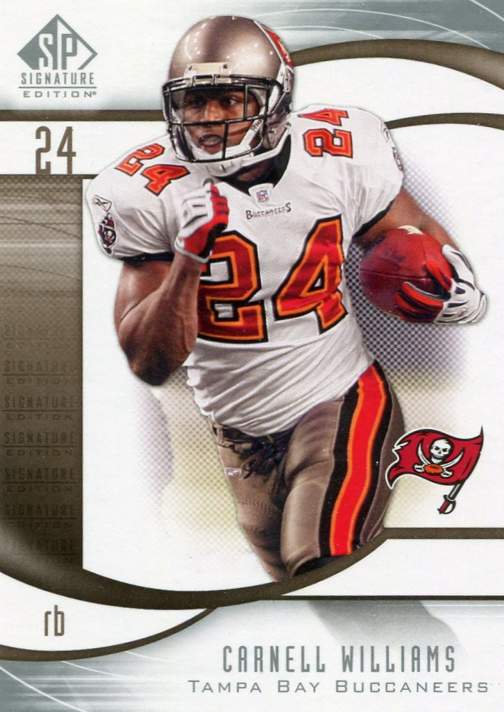 2009 SP Signature Football Card #191 Carnell Williams