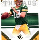2009 SP Threads Football Card #1 Aaron Rodgers
