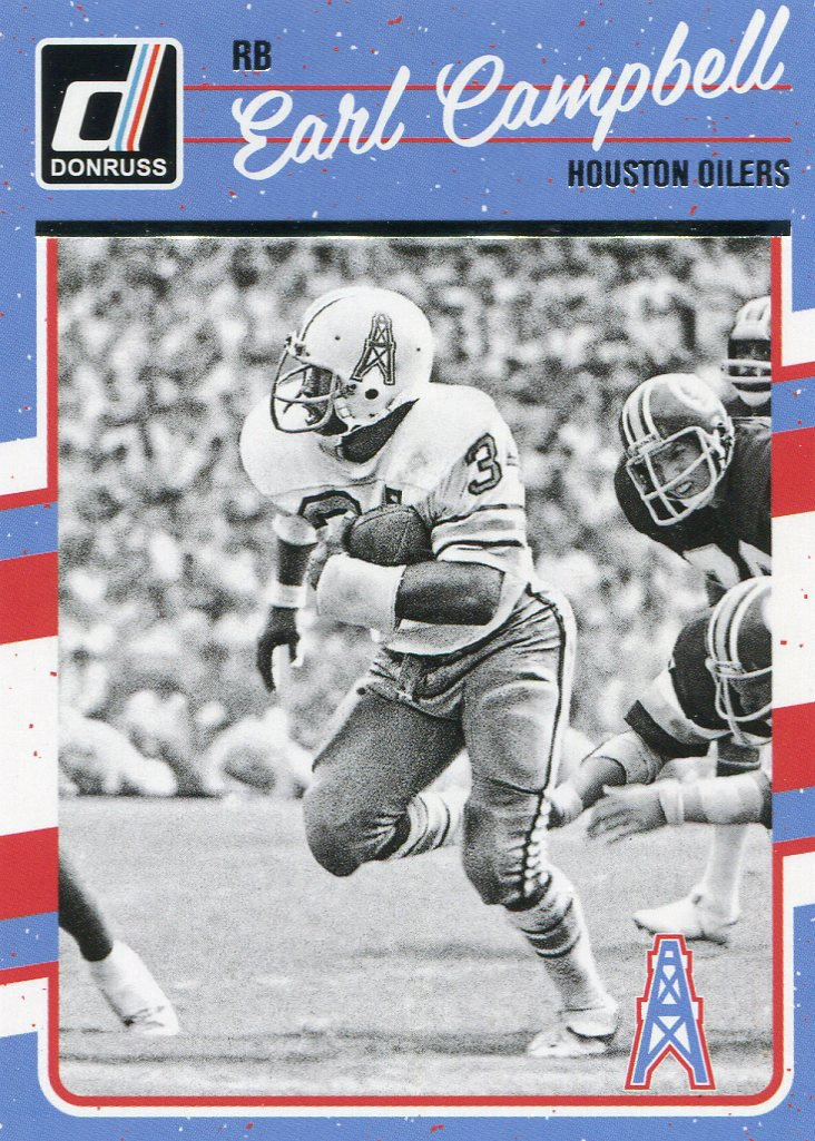 2016 Donruss Football Card #114 Earl Campbell