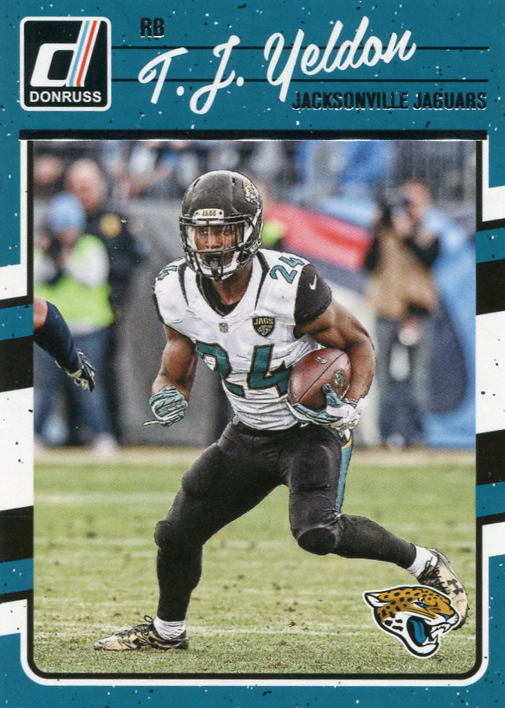 2016 Donruss Football Card #134 T J Yeldon