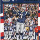 2016 Donruss Football Card #186 Stephen Gostkowski