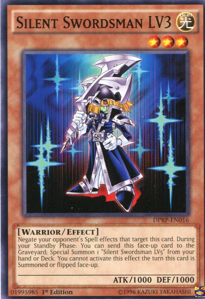 Yugioh Duelist Pack Rivals of the Pharaoh Silent Swordsman LV3, DPRP-EN016