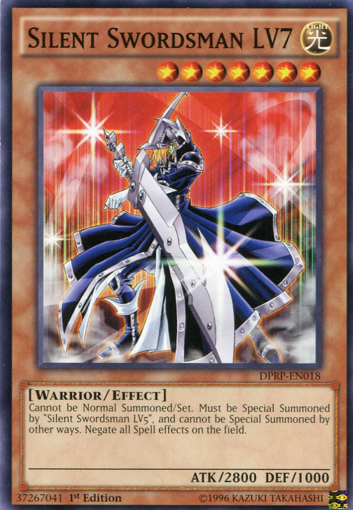 Yugioh Duelist Pack Rivals of the Pharaoh Silent Swordsman LV7, DPRP-EN018