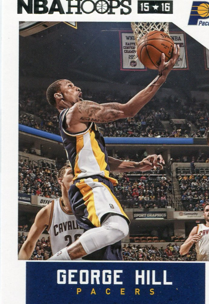 2015 Hoops Basketball Card #41 George Hill
