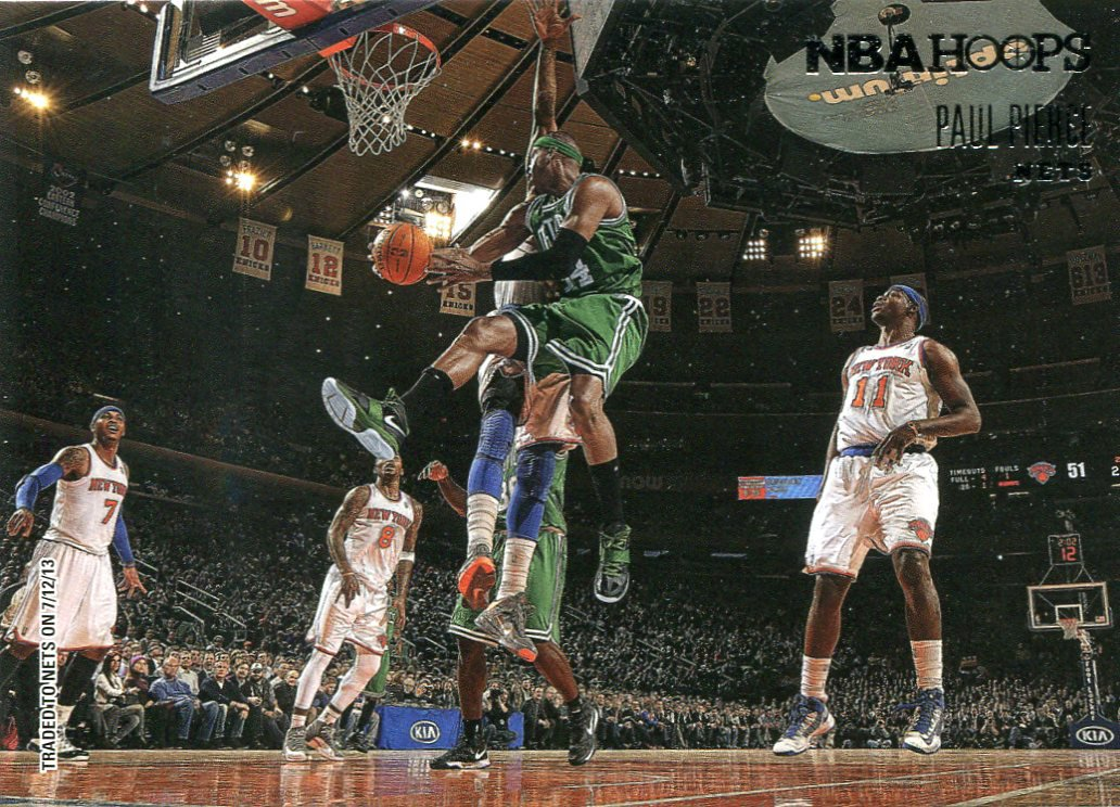 2013 Hoops Basketball Card Courtside #8 Paul Pierce