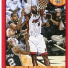 2013 Hoops Basketball Card Red Parallel #62 LeBron James