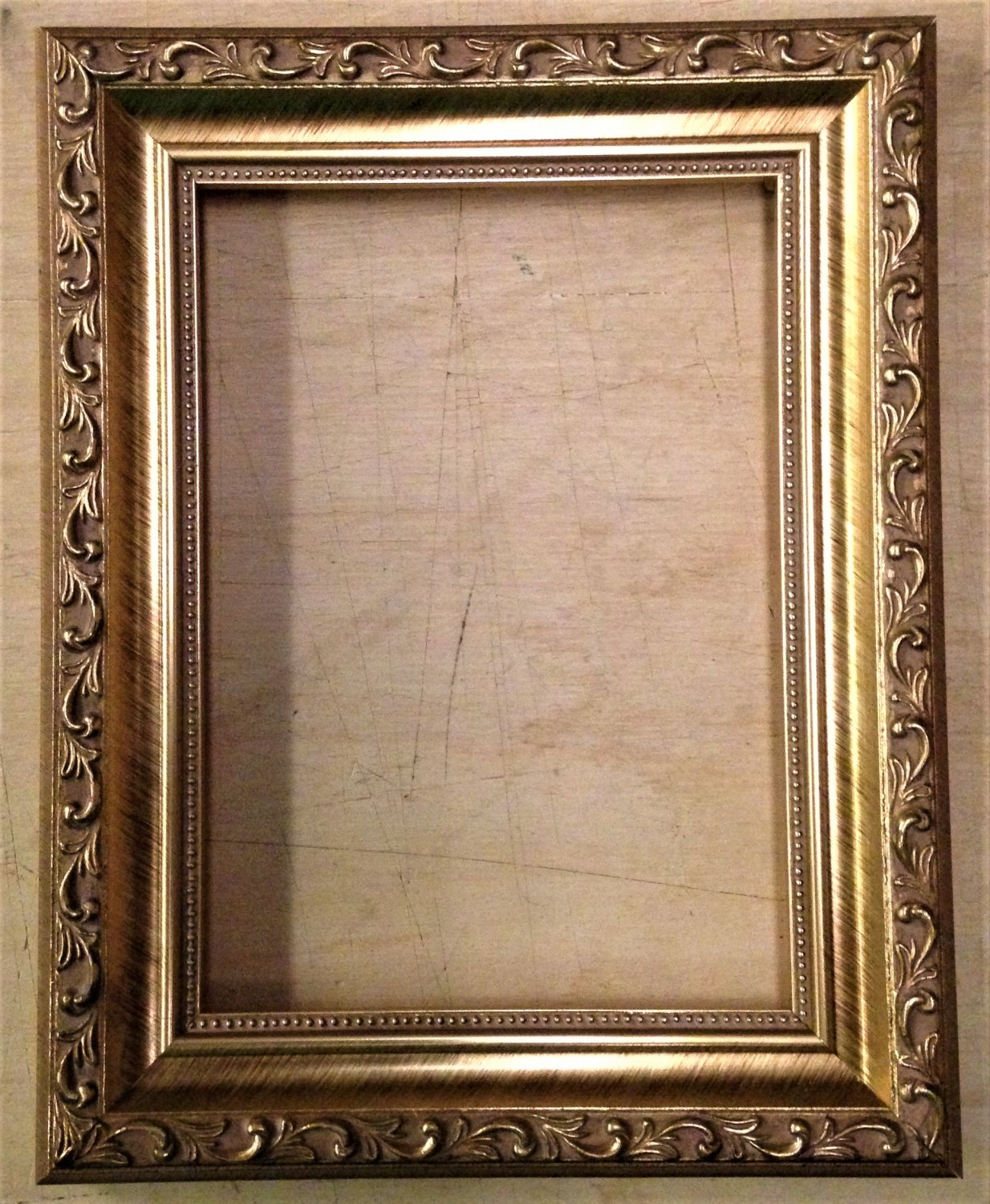 """16 x 20 1-1/4"""" Gold Ornate Picture Frame"""