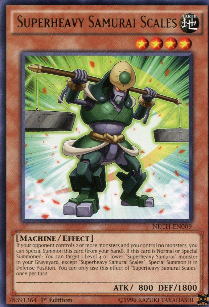 Yugioh Duelist New Challengers, Superheavy Samurai Scales  NECH-EN009