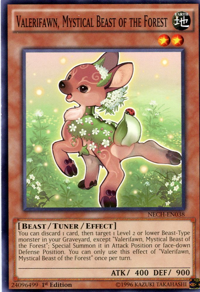 Yugioh Duelist New Challengers, Valerifawn Mystical Beast of the Forest NECH-EN038