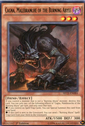 Yugioh Secrets of Eternity Cagna, Malebranche of the Burning Abyss, SECE-EN084