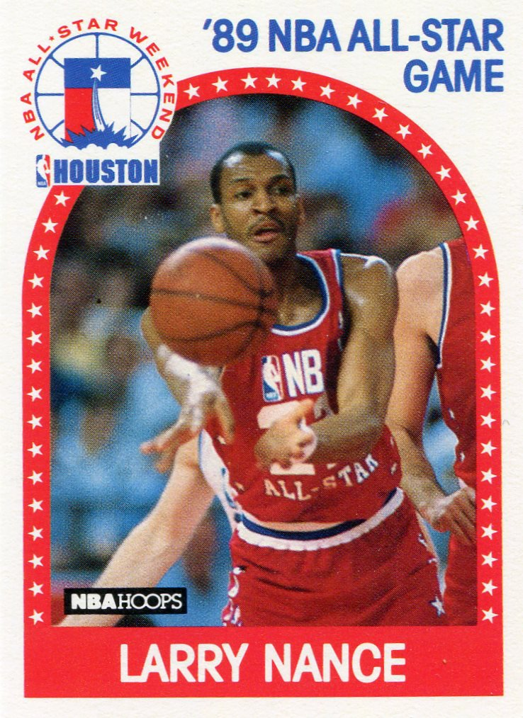1989 Hoops Basketball Card #217 Larry Nance
