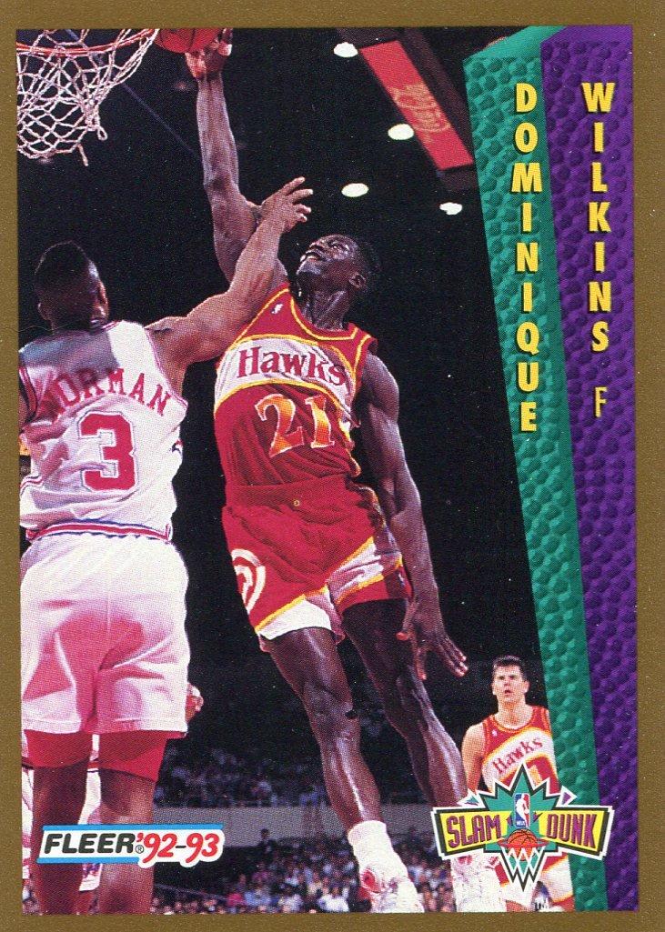 1992 Fleer Basketball Card #279 Dominique Wilkins