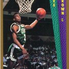 1992 Fleer Basketball Card #281 Dee Brown