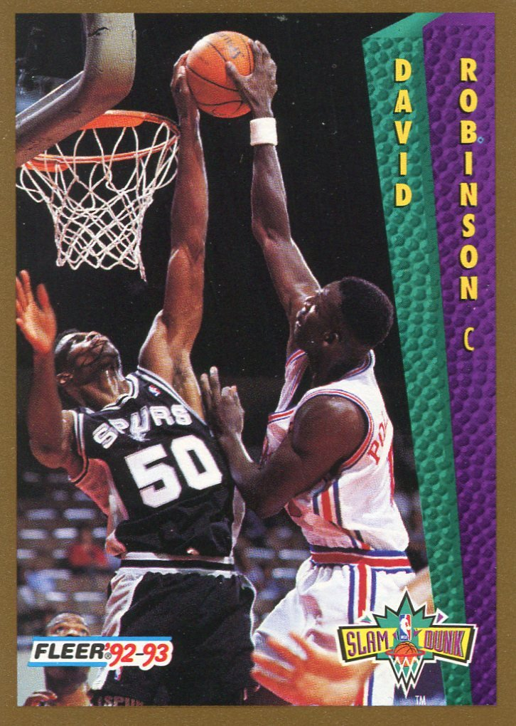 1992 Fleer Basketball Card #288 David Robinson