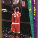 1992 Fleer Basketball Card #294 Hakeem Olajuwon