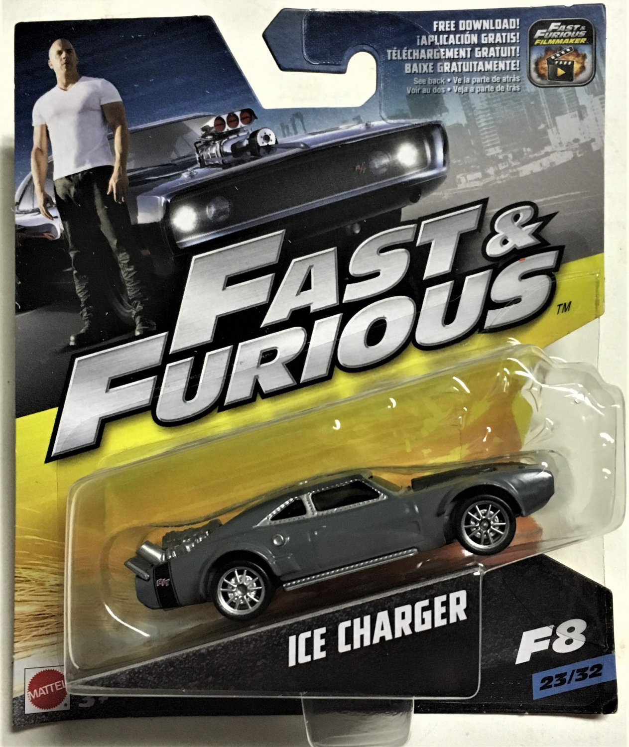 Mattel 1:55 Fast & Furious #23 Ice Charger