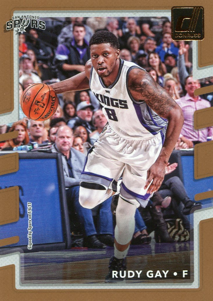 2017 Donruss Basketball Card #133 Rudy Gay