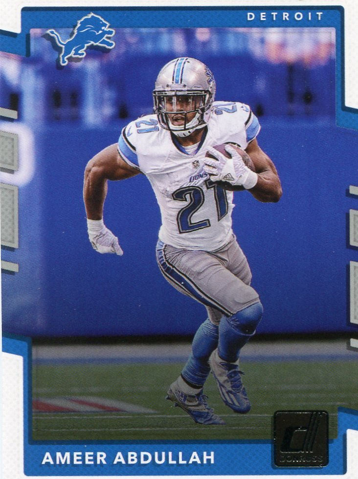 2017 Donruss Football Card #178 Ameer Abdullah