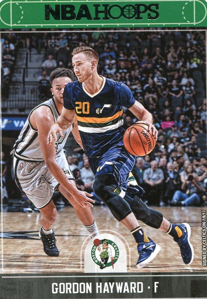 2017 Hoops Basketball Card #81 Gordon Hayward