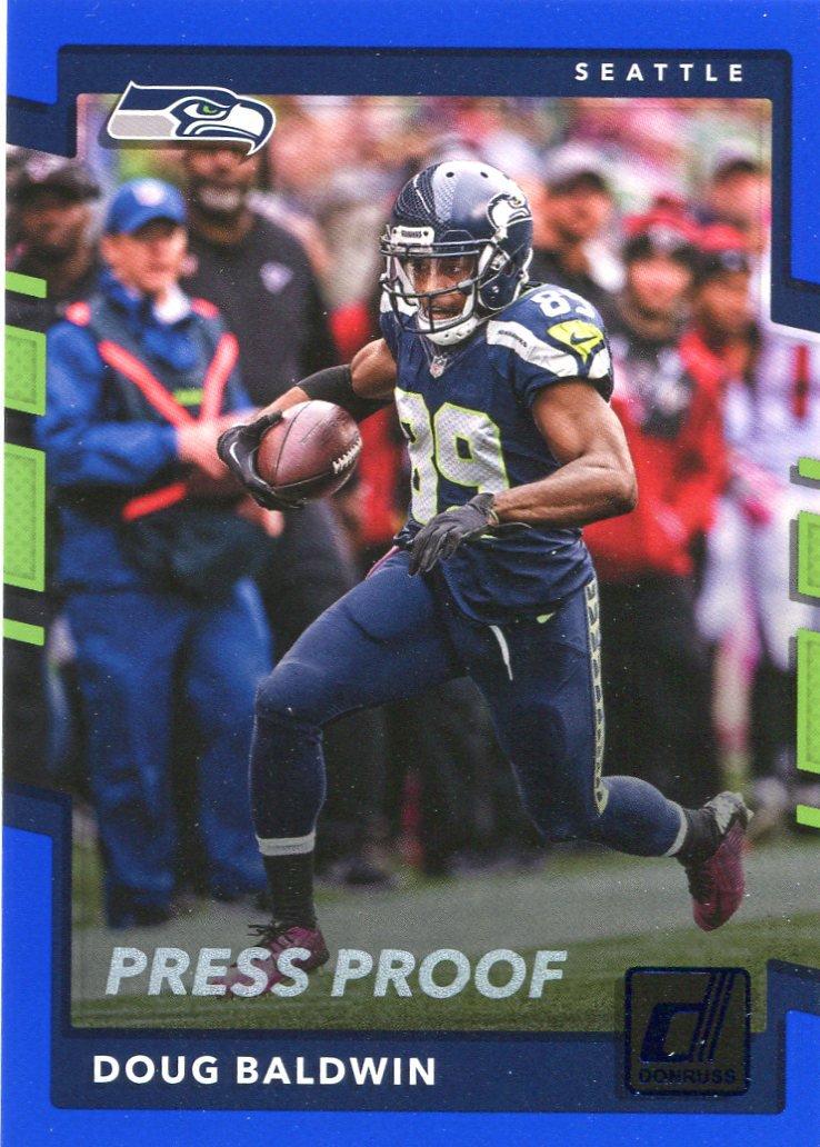 2017 Donruss Football Card Blue Parallel #216 Doug Baldwin