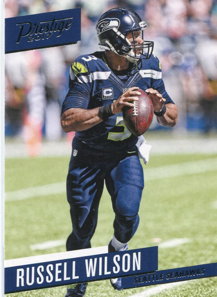 2017 Prestige Football Card 136 Russell Wilson