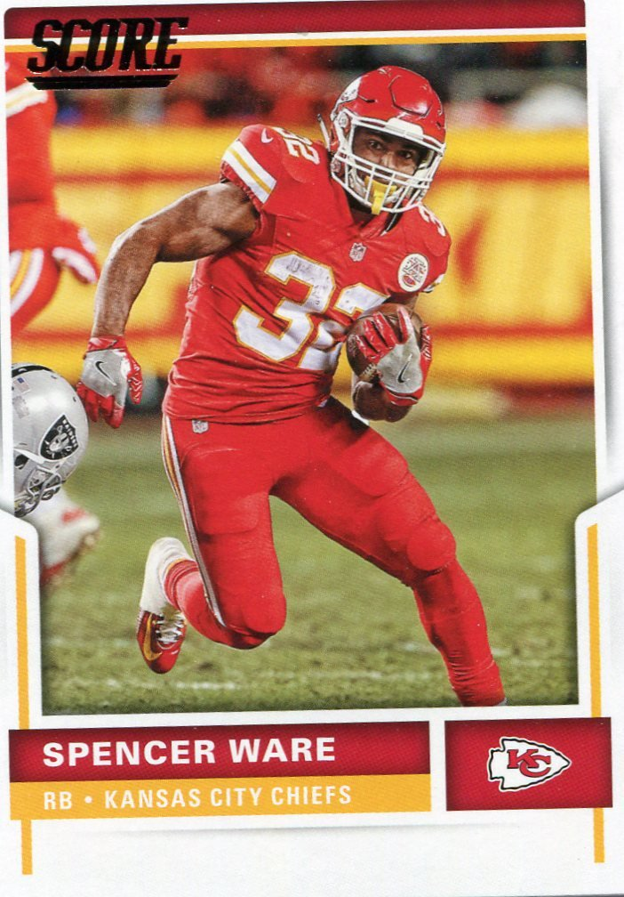 2017 Score Football Card #122 Spencer Ware