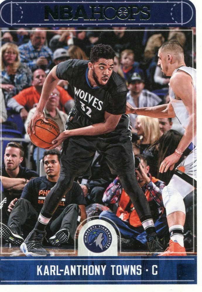 2017 Hoops Basketball Card #217 Karl Anthony-Towns