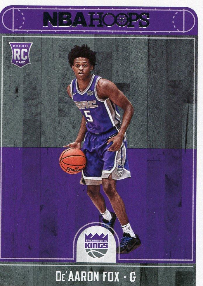 2017 Hoops Basketball Card #255 De'Aaron Fox