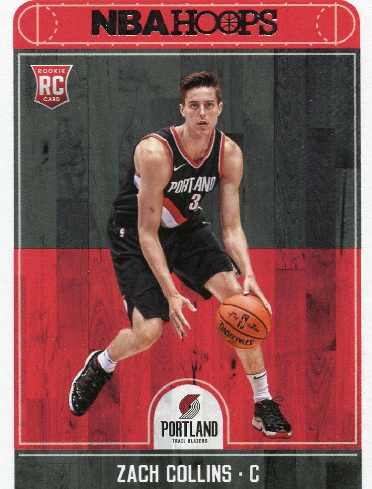 2017 Hoops Basketball Card #260 Zach Collins