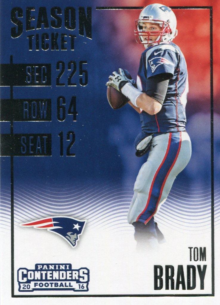 2016 Panini Contenders Football Card #58 Tom Brady