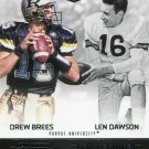 2016 Panini Contenders Football Card Draft Picks Collegiate Connections #17 Drew Brees/Len Dawson
