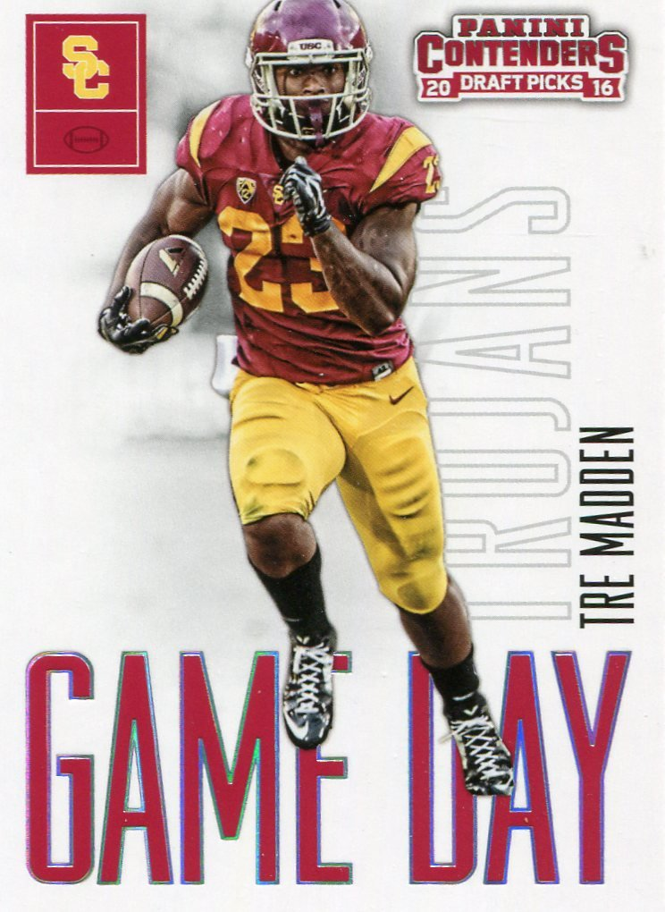 2016 Panini Contenders Football Card Draft Picks Game Day #31 Tre Madden