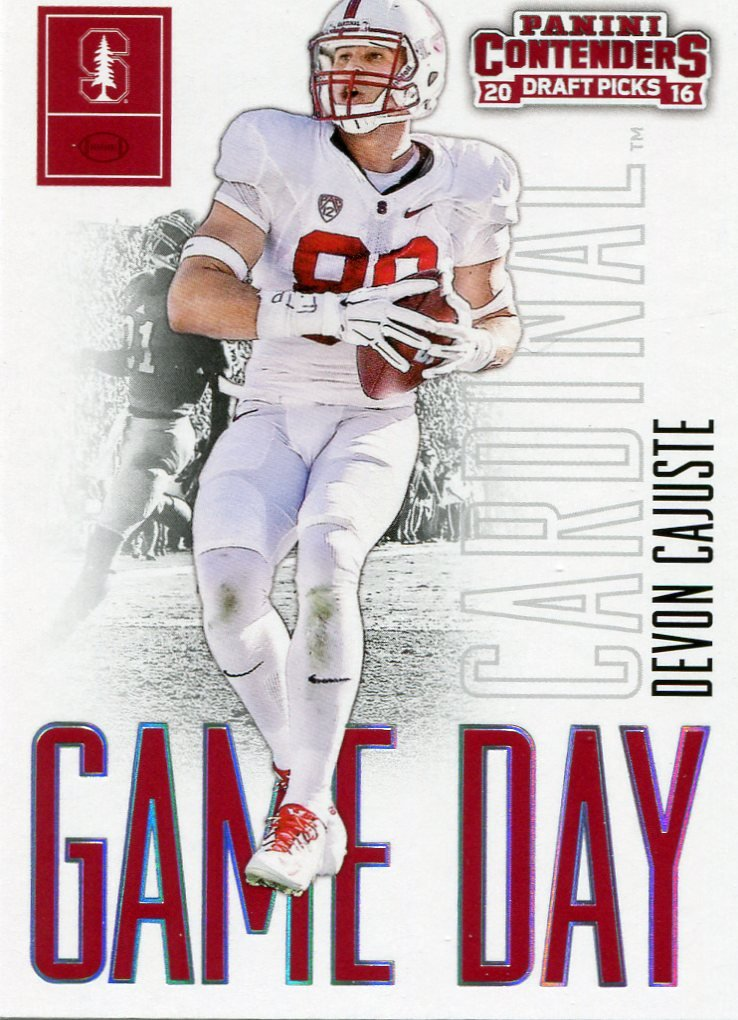 2016 Panini Contenders Football Card Draft Picks Game Day #41 Devon Cajustie
